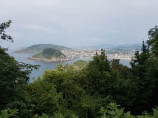 Up on Monte Igeldo, view of the bay of San Sebastian