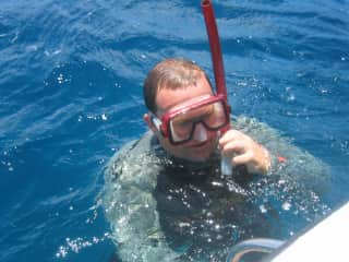 Richard Diving in the Caribbean