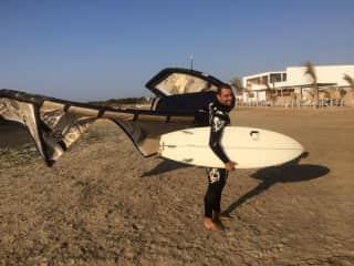 Kitesurfing fanatic