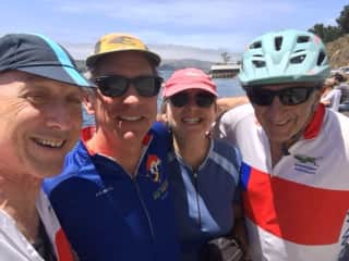 Cycling Tamales Bay, CA with friends
