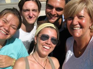 my group from one international workcamp in Sardegna, Italy