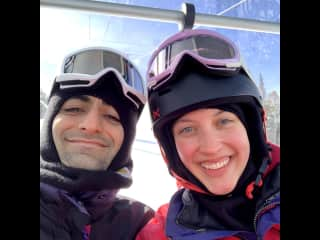 On a ski trip in Colorado.