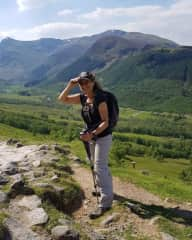 Hiking on the lower slopes of Ben Nevis