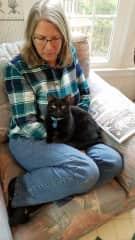 Kris and cat Maggie