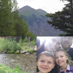 Nora, Matt, David and Sara Hiking in Colorado