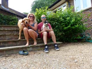 Us with Phoebe and Scrumpy