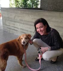 Lady Yotrota, Fanny's dog in Venezuela, now living in Houston, Texas.