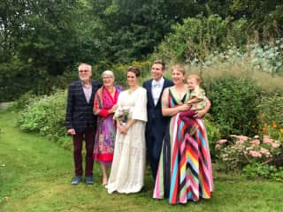 Our son's wedding in 2019. A very happy day!