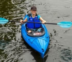 Jacqueline kayaking.