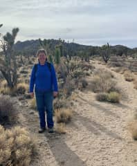 Me in the Mojave desert of CA.  We enjoy hiking so a house sit in a walking neighborhood or near hiking trails would be great.