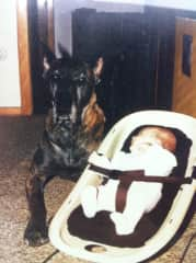 Me 1981 with Akela