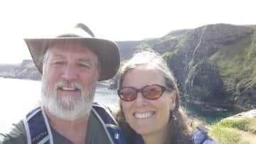 Julie and Tim in Ireland
