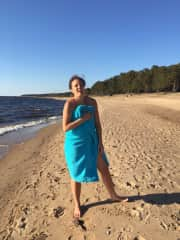 Me swimming in the Baltic, I love cold water!