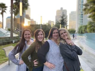 My sisters, mother, and I.