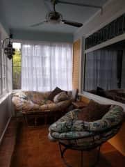 Enclosed front porch