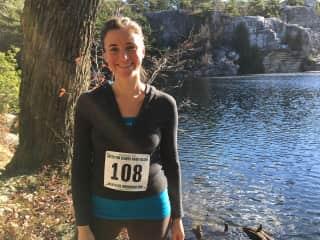 Jen before a trail half marathon