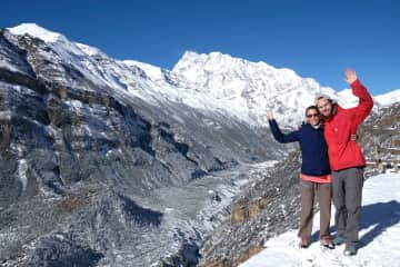 We love hiking and spending time in the nature, as we did in the Nepali Himalaya