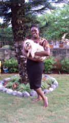 Me and Chelsea my dog