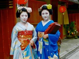 Geisha girls in Kyoto,Japan