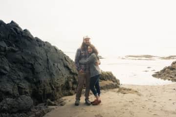 Kelly & Jeremy on the Oregon Coast