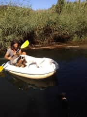 Tour boat with Navid