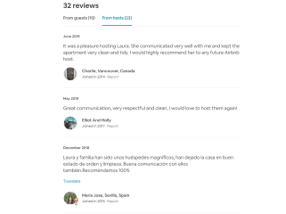 We are respectful and tidy guests, as you can see from our good reviews on AirBnB.