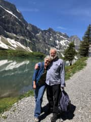 Carol and Bob hiking this summer