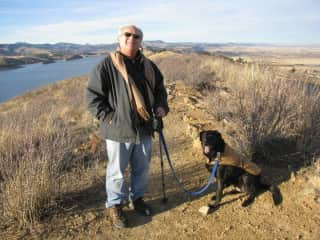 Mike hiking with our beloved Tambor