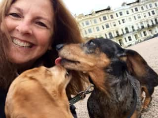Sitting two doxies in Hove, England