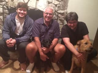 Mark and sons with Todd and Fletcher