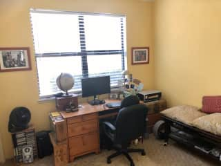 Second bedroom is home office with large screen and HDMI cables if you want to hook up your laptop