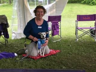 Receiving Canine Good Citizenship