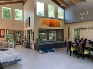 Living Room looking toward pool