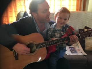 My nephew Seamus and I singing a wee tune. We're all musical in our family.