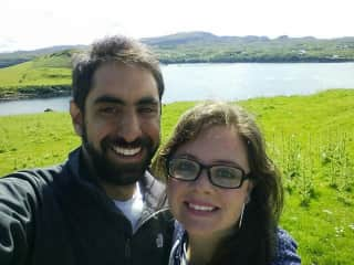 Gonzalo and me in Scotish Highlands