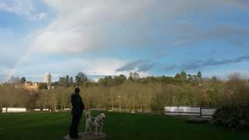 Nadja & Kasey Enjoying a Rainbow