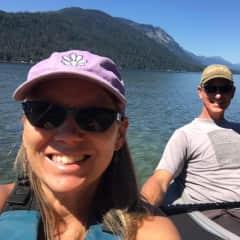 Pat and Josie kayaking