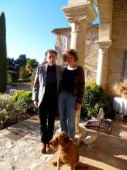Caron, Finn and Lucek. Christmas day in Provence