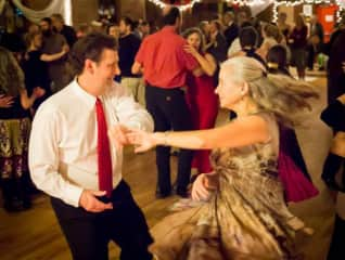 Victoria waltzing at the Asheville Benefit Waltz.