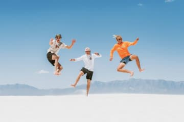 I went on a summer road trip with my friends to this amazing place called White Sands in Arizona