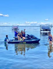 Lake time at our summer home, summer 2020