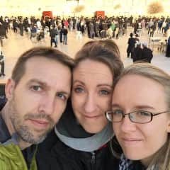 John, Jennifer, and Lydian at the Western Wall in Israel