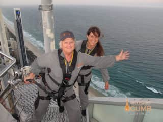 Mayself with my daughter on Q1 Tower (Gold Coast) climb