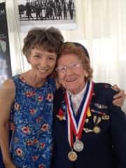 Spending time with dear friends like my WW2 WASP buddy, Liz.