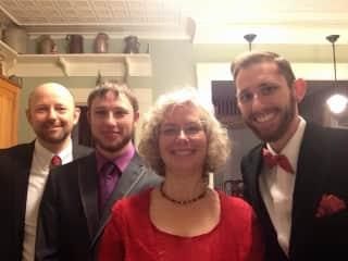 Elaine, husband Brian, Son Daniel and Son Benjamin