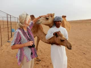 Myself staying at a desert camp in Oman