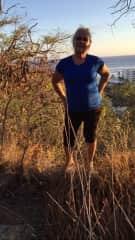 Shirley and I hiking Diamond Head, Hawaiirley