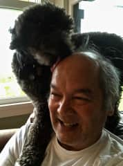 Charlie Brown giving Gary a head lick!
