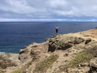 Me hiking in Hawaii