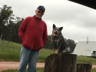 Colin and Shyla (pronounced Sheila) at a homestay in Lucieville WA